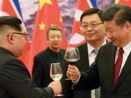 Presidentes de de Corea del Norte y de China