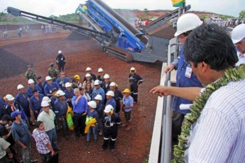 Bolivia inicia construcción del primer complejo siderúrgico en el Mutún