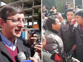 Enfrentamiento a gritos por presencia de Ortiz en El Alto