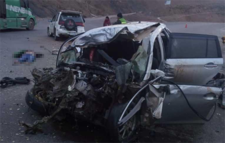 Triple colisión en carretera Oruro-Cochabamba deja 4 fallecidos y 9 heridos