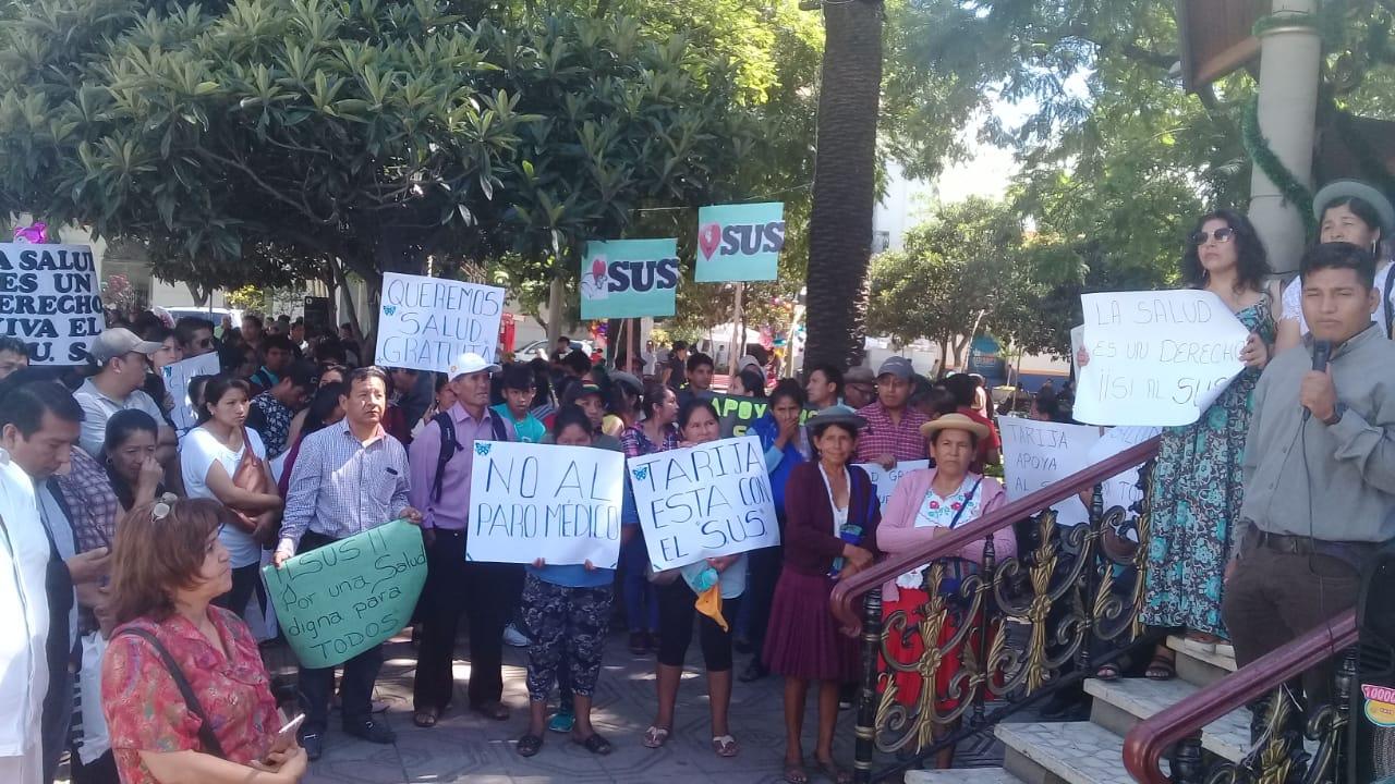 Campesinos amenazan con medidas de presión si Gobernación de Tarija no firma el convenio del SUS
