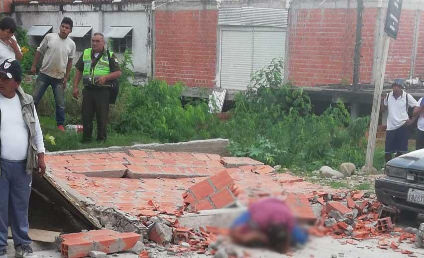 Fallece la ciudadana argentina a la que le cayó un muro encima en Bermejo