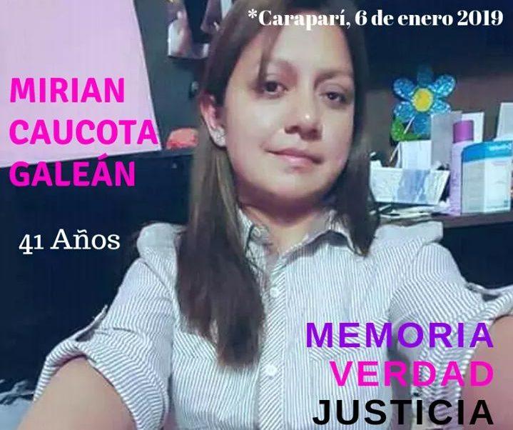 Instituciones de Tarija en alerta tras el feminicidio de Mirian Caucota en Caraparí
