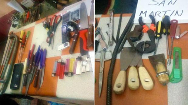 Hallan celulares, cuchillos y pipas en requisa en el penal de San Pedro