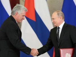 Presidentes Cuba y Rusia