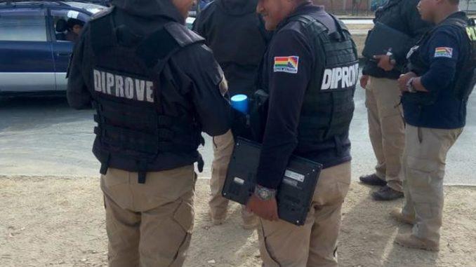Diprove investiga un robo de motocicleta en la ciudad de Yacuiba
