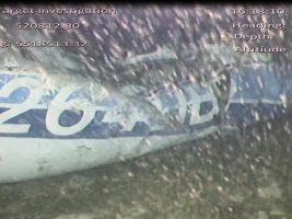 La matrícula del avión monomotor ubicado en el lecho submarino