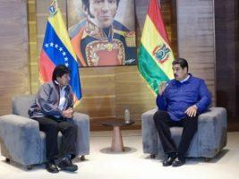 Presidentes de Bolivia y Venezuela