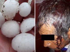 Granizo perfora calaminas, mata aves y deja heridos en el norte de Potosí