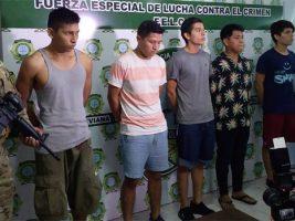 Presentaron a los detenidos en Santa Cruz