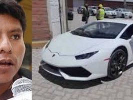 Caso Lamborghini Evo dice el 'pobre Leonardo Loza' se moviliza en 'surubí'