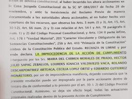 Juez retrocede y declara improcedente demanda contra la repostul
