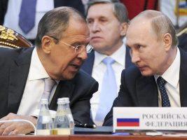 Canciller de Rusia y el presidente de Rusia