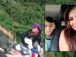 Colombia: se lanzó de un puente con su hijo en brazos