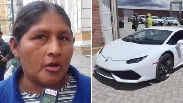 Quispe sobre el Lamborghini:
