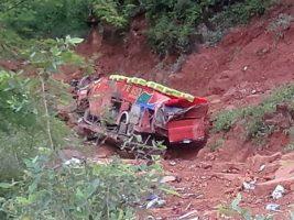Bus de la empresa 20 de Agosto accidente Sucre