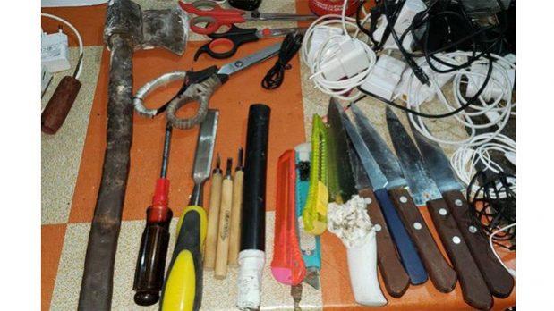 Requisa en penal de San Pedro halla 96 armas punzocortantes