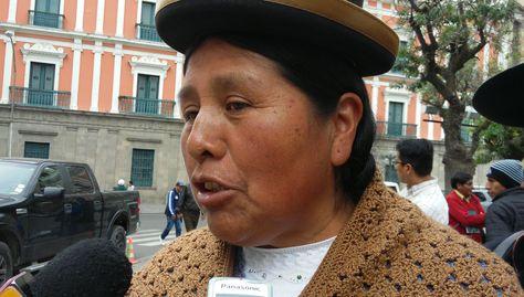 """Felipa Huanca: Si Rafael Quispe no fuese diputado, ya estaría """"adentro"""""""
