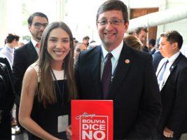 Esposa de Juan Guaidó y el senador de Bolivia