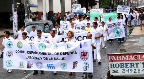 Médicos de hospitales de primer y segundo nivel de Santa Cruz van al paro