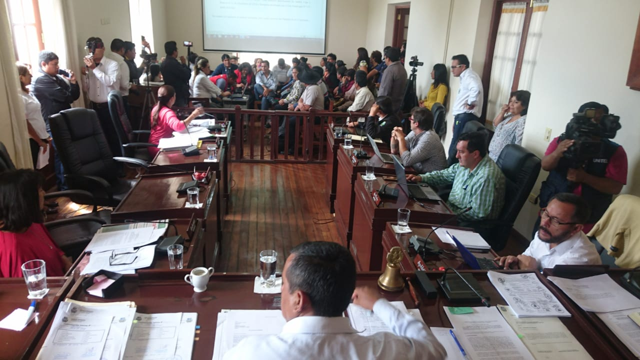 Concejo Municipal de Tarija aprueba el crédito de 36.000.000 de bolivianos