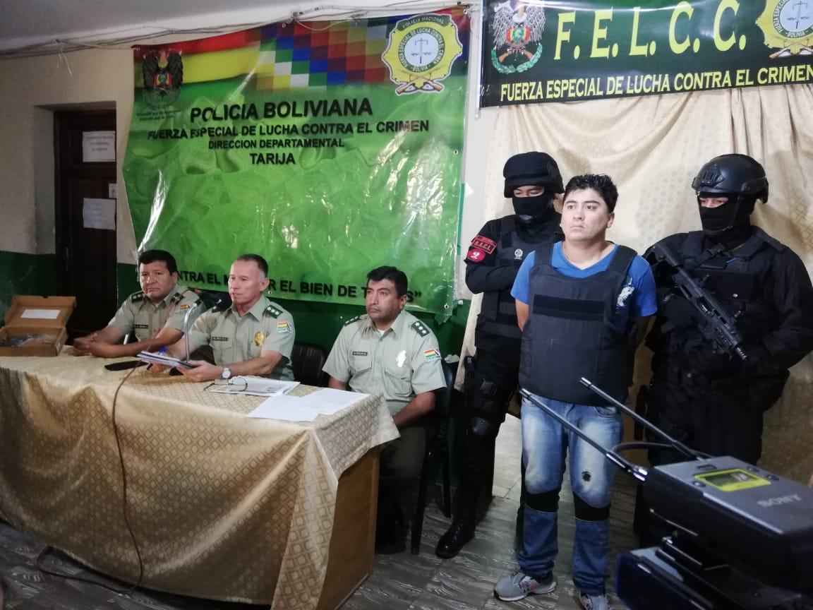 Presentan al autor del disparo que dejó herido a un joven en Tarija