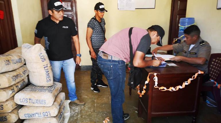 Incautan alrededor de 500 kilos de cal de procedencia argentina en Bermejo