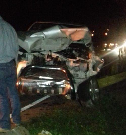Camioneta atropella a una vaca y llega a volcar en Tarija