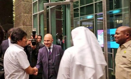 Evo llega a Dubái donde participará en el foro de inversiones de los Emiratos Árabes Unidos