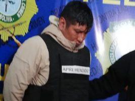 El Alto: Cae expolicía delincuente; dice que lo hacía por necesidad