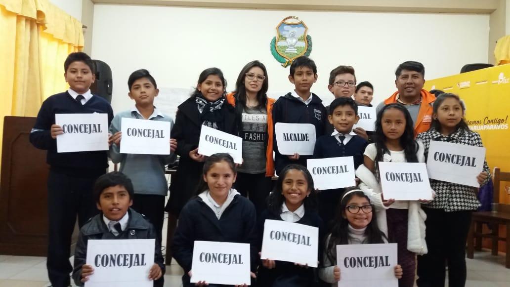 Gonzalo Martínez es el nuevo alcalde municipal infantil de Tarija