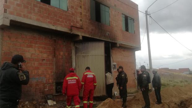 Tres heridos por incendio en una vivienda de El Alto