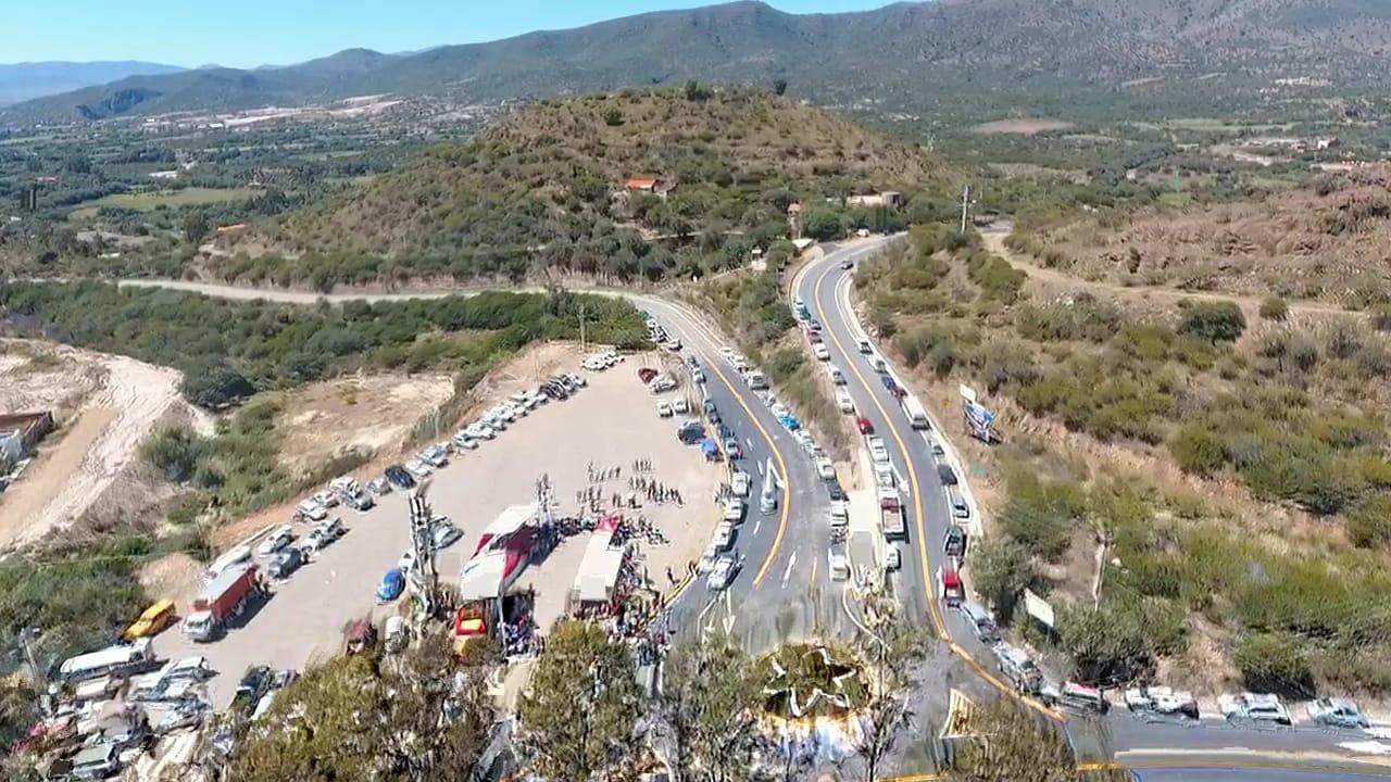 Oliva entrega el tramo carretero Temporal-Matadero-San Jacinto y concluye la undécima carretera en su gestión