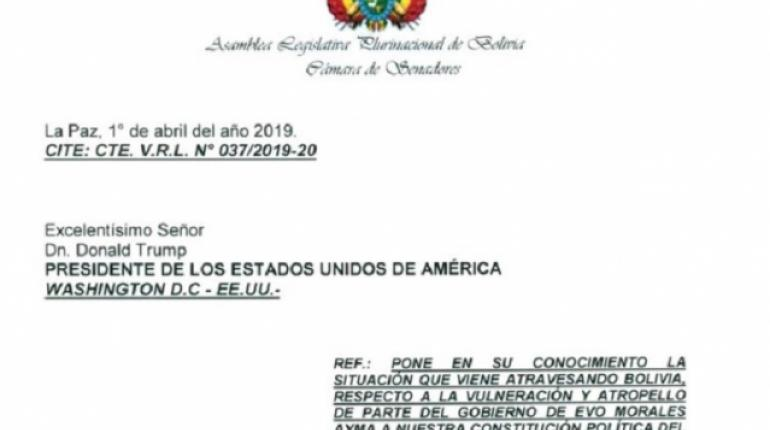 Borda pide someter a la Comisión de Ética a legisladores que enviaron carta a Donald Trump