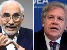 Expresidente de Bolivia y el secretario de la OEA