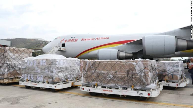 Llegó a Caracas un avión chino con ayuda médica para Venezuela