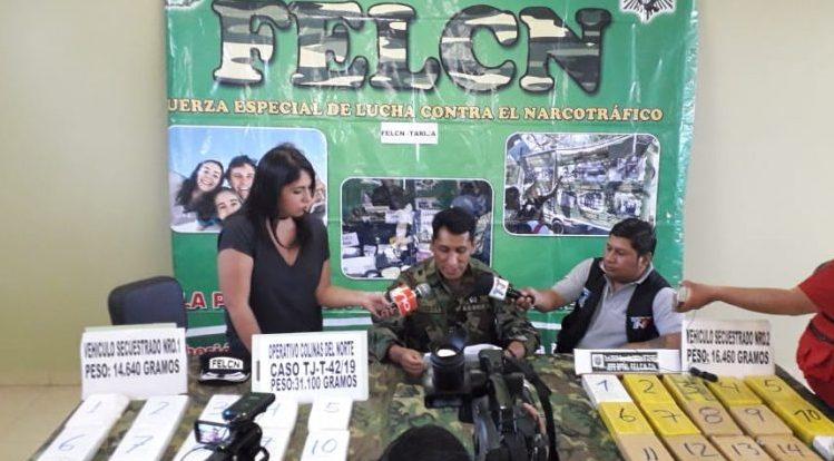 Envían a la cárcel a cuatro personas imputadas por tráfico de cocaína en Tarija