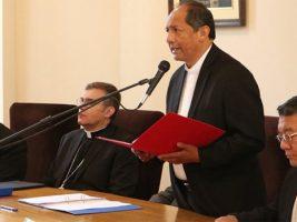 Monseñor Ricardo Centellas, presidente de la Conferencia Episcopal,