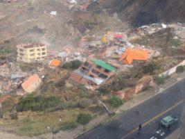 El deslizamiento en la zona Inmaculada Concepción de La Paz