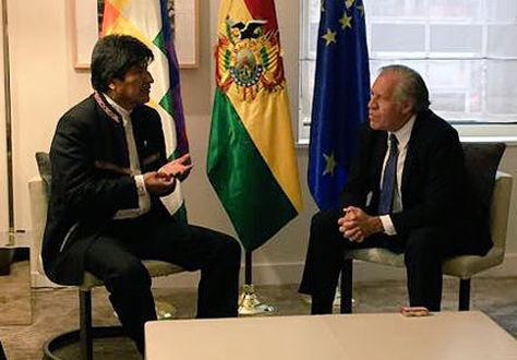 Almagro visitará Bolivia e irá al Trópico de Cochabamba