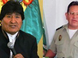 Presidente de Bolivia y excomandante Policia vinculado al narcotrafico