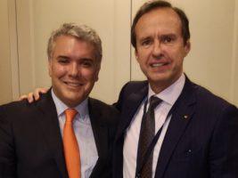 Presidente de Colombia y expresidente de Bolivia