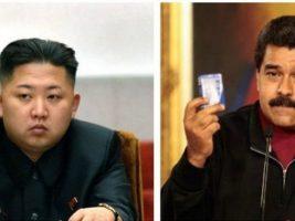 Líderes de Corea del Norte y de Venezuela