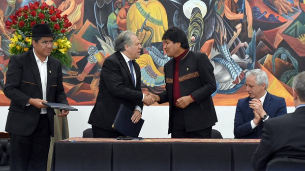 Parlamentarias presentaron ante la OEA un reclamo por el apoyo de Almagro a Evo