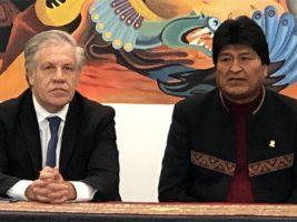 Secretario de la OEA y el presidente de Bolivia