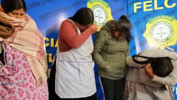 """Capturan a un clan familiar de """"descuidistas"""" en El Alto"""
