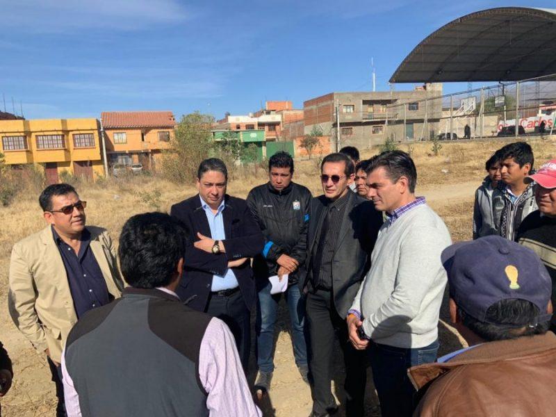 Ministro Arce y TSJ dan visto bueno a terrenos para la Casa Judicial de Tarija