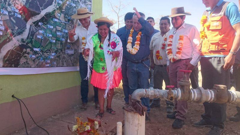 Municipio de Tarija y FPS dotaron de agua potable a la comunidad San Antonio La Cabaña
