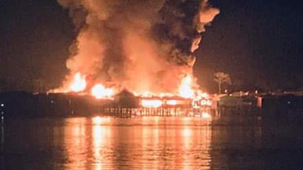 Incendio arrasa una comunidad en Beni