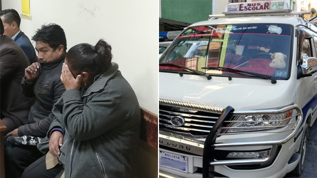 Encarcelan a pareja implicada en robo con minibús escolar